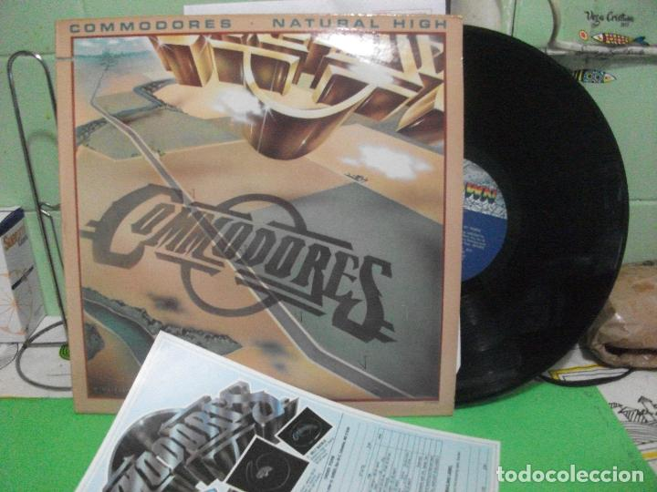 COMMODORES - NATURAL HIGH - LP MOTOWN USA 1978 (Música - Discos - LP Vinilo - Funk, Soul y Black Music)