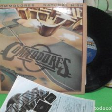 Discos de vinilo: COMMODORES - NATURAL HIGH - LP MOTOWN USA 1978. Lote 142587354