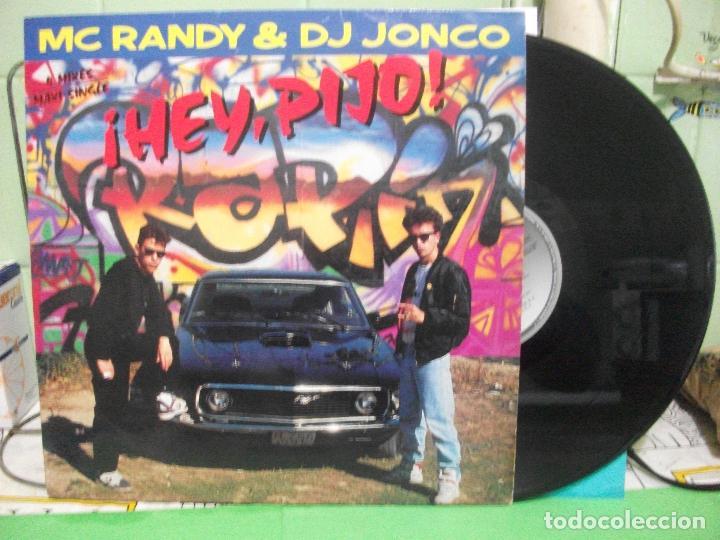 MC RANDY & DJ JONCO– ¡HEY, PIJO! - MAXI-SINGLE SPAIN 1989 - HIP HOP RAP (Música - Discos de Vinilo - Maxi Singles - Reggae - Ska)