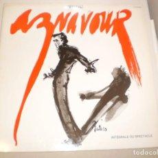 Discos de vinilo: LP DOBLE CHARLES AZNAVOUR. RÉCITAL. RAKOON 1987 FRANCE CARPETA DOBLE (DISCO PROBADO Y BIEN). Lote 142592566