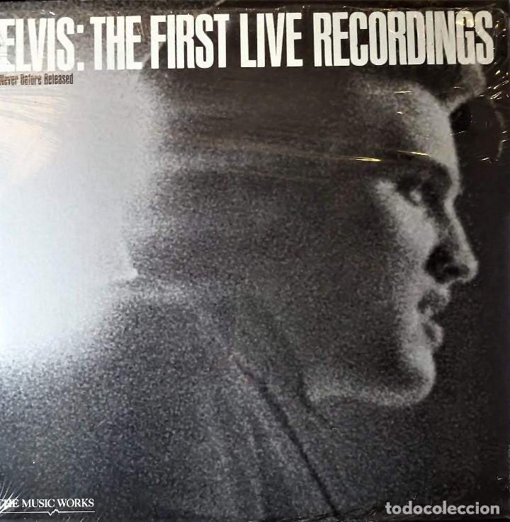 ELVIS PRESLEY - THE FIRST LIVE RECORDINGS - LP USA 1983 **SIN ABRIR PRECINTADO**(MINT) (Música - Discos - LP Vinilo - Rock & Roll)