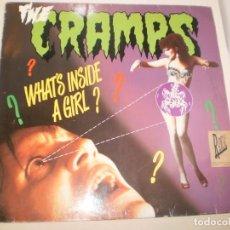 Discos de vinilo: MAXI THE CRAMPS. WHAT'S INSIDE A GIRL? BIG DEAT 1986 ENGLAND (PROBADO Y BIEN). Lote 142605866