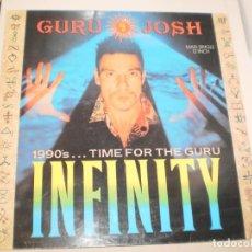 Discos de vinilo: MAXI GURU JOSH INFINITY CONSTRUCTION RECORDS 1990 UK (DISCO PROBADO Y BIEN, SEMINUEVO). Lote 142607670
