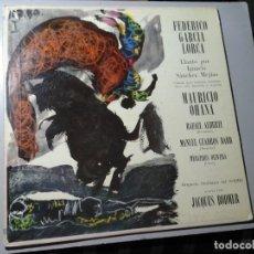 Discos de vinilo: MAURICIO OHANA / RAFAEL ALBERTI. LP. FEDERICO GARCÍA LORCA. LLANTO IGNACIO SANCHEZ MEJÍAS. RARO.. Lote 142620942