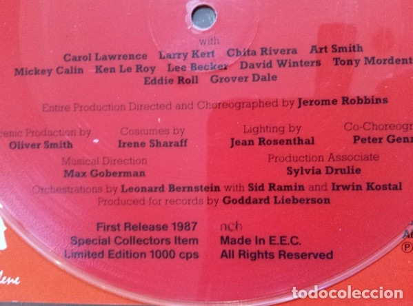 Discos de vinilo: WEST SIDE STORY - SINGLE VINILO PICTURE DISC - LTD 1000 COPIAS - NUEVO - FOTODISCO MUY RARO!! - Foto 2 - 224802920