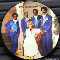 Discos de vinilo: THE PLATTERS * LP PICTURE * FOTODISCO * MUY RARO * MADE IN DINAMARCA * NUEVO. Lote 26265952