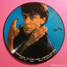 Discos de vinilo: IGGY POP * LP FOTODISCO * PICTURE DISC * INTERVIEW RARO * NUEVO !!. Lote 29038805