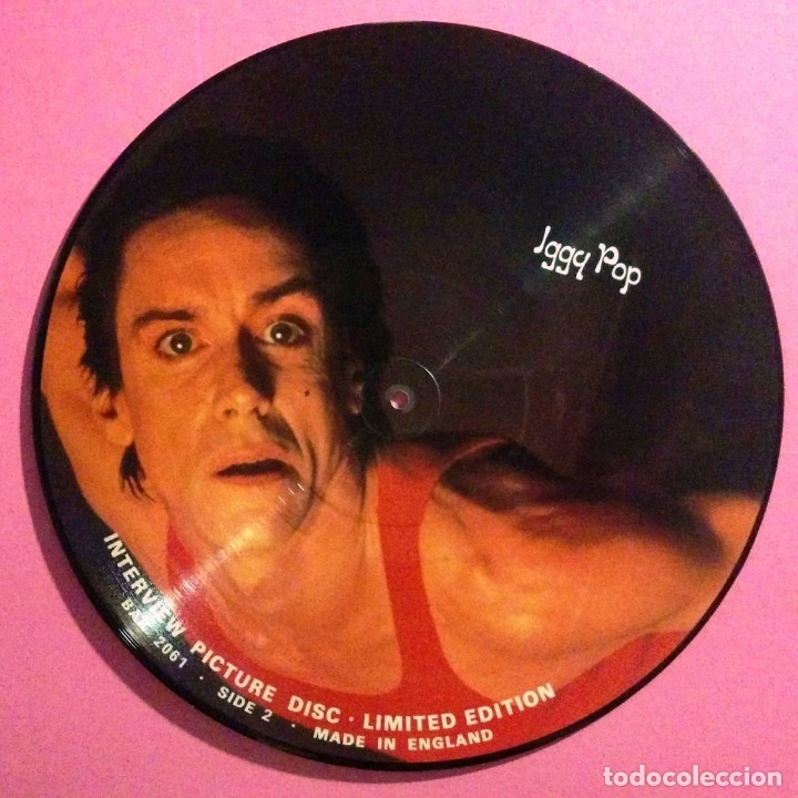 Discos de vinilo: IGGY POP * LP FOTODISCO * PICTURE DISC * INTERVIEW RARO * NUEVO !! - Foto 3 - 29038805