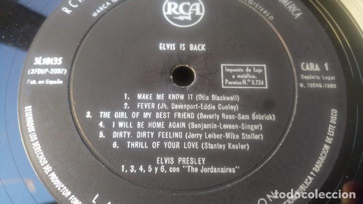 Discos de vinilo: ELVIS PRESLEY - IS BACK - LP ESPAÑA 1960 VG - Foto 7 - 142648562