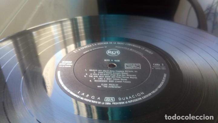 Discos de vinilo: ELVIS PRESLEY - IS BACK - LP ESPAÑA 1960 VG - Foto 8 - 142648562