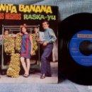 Discos de vinilo: LOS GATOS NEGROS - JUANITA BANANA / RASKA-YU - SINGLE SELLO VERGARA DEL AÑO 1966 - COMO NUEVO. Lote 142650358