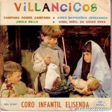 Discos de vinilo: VILLANCICOS / CORO INFANTIL ELISENDA / REGAL 1964 (PORTADA DOBLE CON BELEN INTERIOR). Lote 142650618