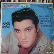 Discos de vinilo: ELVIS PRESLEY - LOVING YOU (EP) 1961 33055 RCA EDICION ESPAÑOLA. Lote 142676438