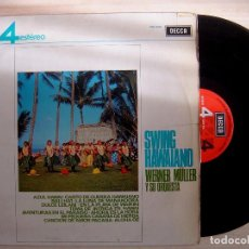 Discos de vinilo: WERNER MÜLLER Y SU ORQUESTA - SWING HAWAIANO - LP ESPAÑOL 1963 - DECCA. Lote 142684254