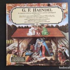 Discos de vinilo: G.F. HAENDEL - SELECCIONES - DAVIS - LEPPARD - LP VINILO - GRANDES COMPOSITORES Nº30 - 1981. Lote 142685222