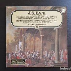 Discos de vinilo: J.S. BACH - SZERYNG - HASSON - MARRINER - LP VINILO - GRANDES COMPOSITORES Nº26 - 1981. Lote 142685390