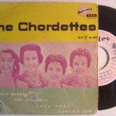 Discos de vinilo: THE CHORDETTES - CHARLIE BROWN - EP 1959 - HELIODOR. Lote 142685434