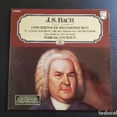 Discos de vinilo: J.S. BACH - CONCIERTOS DE BRANDERBURGO - COURAD - LP VINILO - GRANDES COMPOSITORES Nº24 - 1981. Lote 142685466