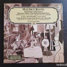 Discos de vinilo: MAURICE RAVEL - RAPSODIA ESPAÑOLA - ALICEO GALLIERA - LP VINILO - GRANDES COMPOSITORES Nº24 - 1981. Lote 142685570