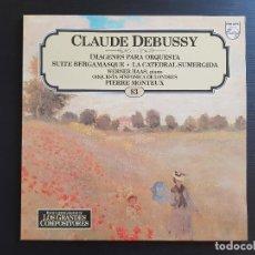 Discos de vinilo: CLAUDE DEBUSSY - LA CATEDRAL SUMERGIDA - MONTEUX - LP VINILO - GRANDES COMPOSITORES Nº83 - 1981. Lote 142685750