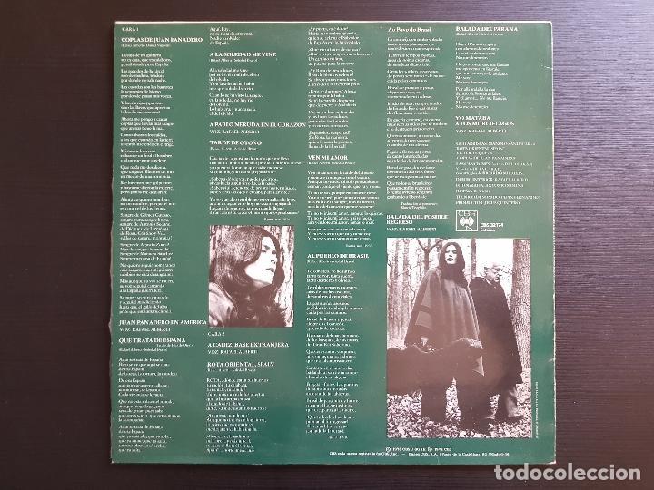 Discos de vinilo: SOLEDAD BRAVO - RAFEL ALBERTI - LP VINILO - CBS -1978 - Foto 2 - 142687826