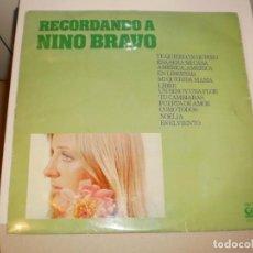Discos de vinilo: LP RECORDANDO A NINO BRAVO. GRAMUSIC 1976 SPAIN (DISCO PROBADO Y BIEN). Lote 142688870