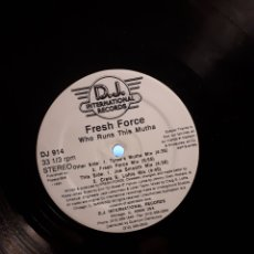 Discos de vinilo: FRESC FORCE(2)-WHO RUNS THIS MUTHA. Lote 142692806