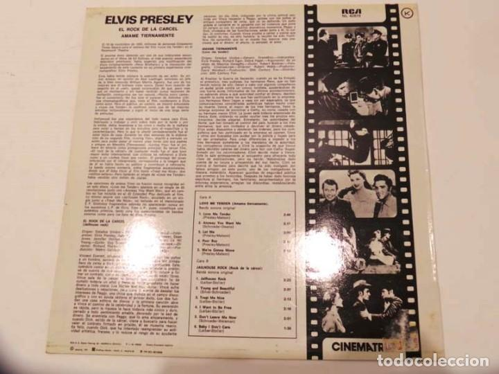 Discos de vinilo: LP ELVIS PRESLEY ORIGINAL SOUNDTRACK JAILHOUSE ROCK 1981 - Foto 3 - 142694658