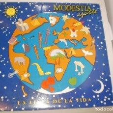Discos de vinilo: LP MODESTIA APARTE. LA LÍNEA DE LA VIDA. POLYDOR 1992 SPAIN CON FUNDA CON LETRAS (PROBADO Y BIEN). Lote 142707510