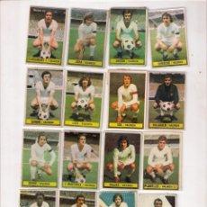 Discos de vinilo: VALENCIA C.F. LOTE DE 16 CROMOS, CAMPEONATO DE LIGA 1974/75 CON DOS FICHAJES: FERRER Y MANOLETE. Lote 142715126