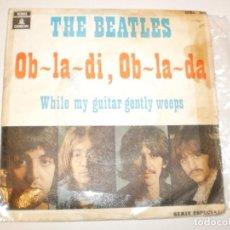 Discos de vinilo: SINGLE THE BEATLES. OB-LA-DI, OB-LA-DA. WHILE MY GUITAR GENTLY WEEPS. EMI 1969 SPAIN (PROBADO Y BIEN. Lote 142722870