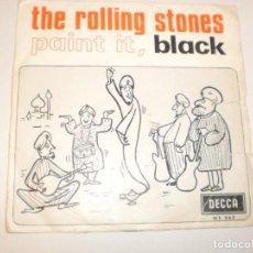 Discos de vinilo: SINGLE ROLLING STONES. PAINT IT, BLACK. LONG LONG WHILE. DECCA 1966 SPAIN (PROBADO Y BIEN). Lote 176451542