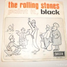 Vinyl-Schallplatten - single rolling stones. paint it, black. long long while. decca 1966 spain (probado y bien) - 142724406