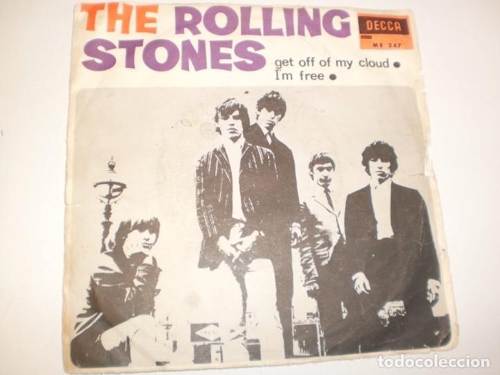 SINGLE ROLLING STONES. GET OFF OF MY CLOUD. I'M FREE. DECCA 1965 SPAIN (PROBADO Y BIEN) (Música - Discos - Singles Vinilo - Pop - Rock Extranjero de los 50 y 60)