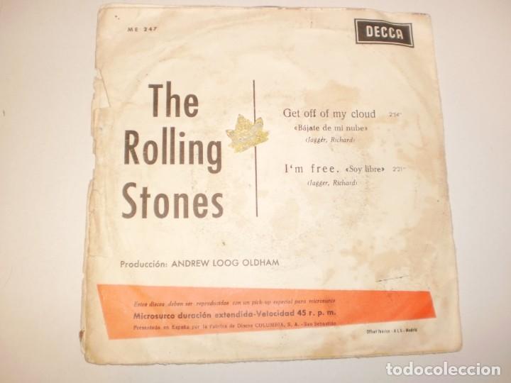 Discos de vinilo: single rolling stones. get off of my cloud. I'm free. decca 1965 spain (probado y bien) - Foto 2 - 142724686