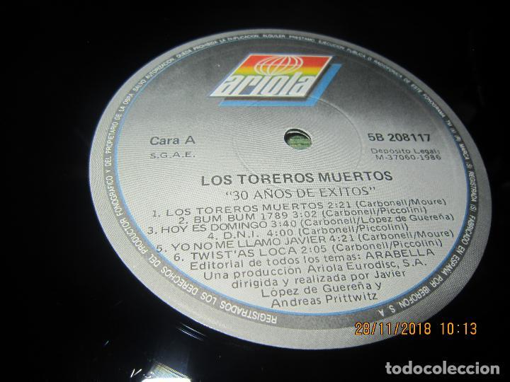 Vinyl-Schallplatten: LOS TOREROS MUERTOS - 30 AÑOS DE EXITOS LP - ORIGINAL ESPAÑOL - ARIOLA 1986 - MUY NUEVO(5) - Foto 4 - 142725174