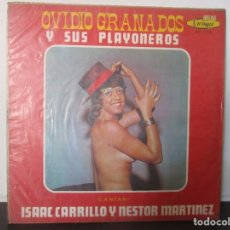 Discos de vinilo: OVIDIO GRANADOS Y SUS PLAYONEROS ISAAC CARRILLO NESTOR MARTINEZ COLOMBIA LP K7 VG. Lote 142731010