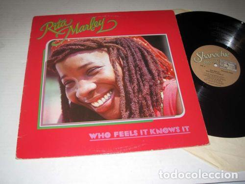 RITA MARLEY - WHO FEELS IT KNOWS IT 1982 - 1º LP !! BOB MARLEY, REGGAE COLLECTORS, EDT USA, TODO EXC (Música - Discos - LP Vinilo - Reggae - Ska)
