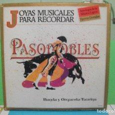 Discos de vinilo: JOYAS MUSICALES PARA RECORDAR - PASODOBLES - BANDA Y ORQUESTA TAURINA ( BOX 3 LPS .) PEPETO. Lote 142736950