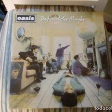 Discos de vinilo: OASIS: DEFINITELY MAYBE (1996. REEDICION DE LUJO UK. SELLO CREATION.2 LP'S DORADOS. GATEFOLD). Lote 142745398