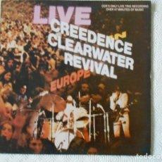 Discos de vinilo: CREEDENCE CLEARWATER REVIVAL. LIVE. LP CON 12 CANCIONES EN DIRECTO.. Lote 142745706