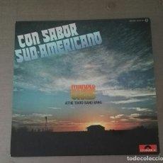 Discos de vinilo: LP MANOLO GAS CON SABOR SUD-AMERICANO TINTO BAND BANG. Lote 142761202