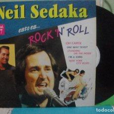 Discos de vinilo: LP ESTO ES...ROCK'N'ROLL. VOL. 7. NEIL SEDAKA. PEPETO. Lote 142771522