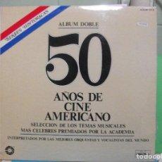 Discos de vinilo: VARIOS - 50 AÑOS DE CINE AMERICANO ( DOBLE LP CARPETA ABIERTA. ORIGINAL 1978 SPAIN ) PEPETO. Lote 142772046