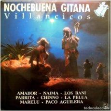 Discos de vinilo: VVAA (PARRITA, LA PELUA, MARELU, CHINNO...) - NOCHEBUENA GITANA - LP SPAIN 1990 - HORUS. Lote 142775418