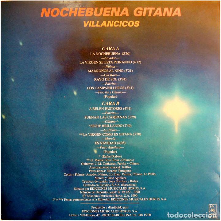 Discos de vinilo: VVAA (Parrita, La Pelua, Marelu, Chinno...) - Nochebuena Gitana - Lp Spain 1990 - Horus - Foto 2 - 142775418