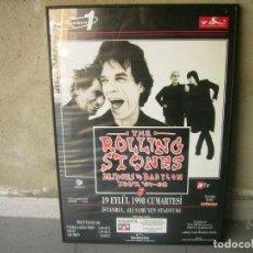 Discos de vinilo: THE ROLLING STONES / BRIDGES TO BABILON / TOUR 97 - 98 POSTER GIGANTE. Lote 142778822