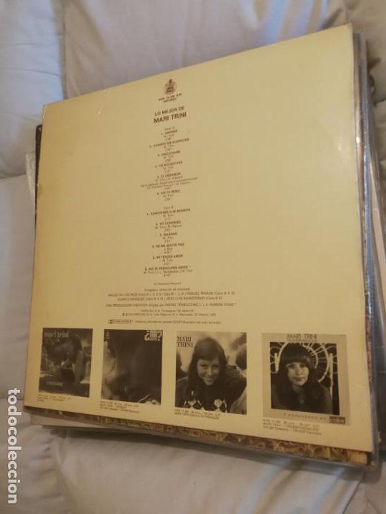 Discos de vinilo: LO MEJOR DE MARI TRINI - LP 1976 HISPAVOX ESPAÑA - Foto 2 - 142791202