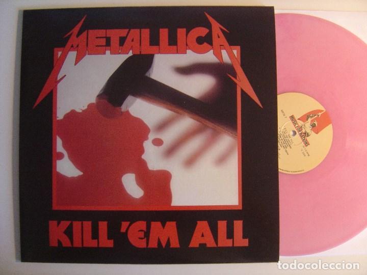 METALLICA - KILL EM ALL - LP REEDICION VINILO ROSA - MUSIC FOR NATIONS (Música - Discos - LP Vinilo - Heavy - Metal)