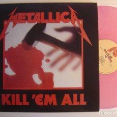Discos de vinilo: METALLICA - KILL EM ALL - LP REEDICION VINILO ROSA - MUSIC FOR NATIONS. Lote 142796526